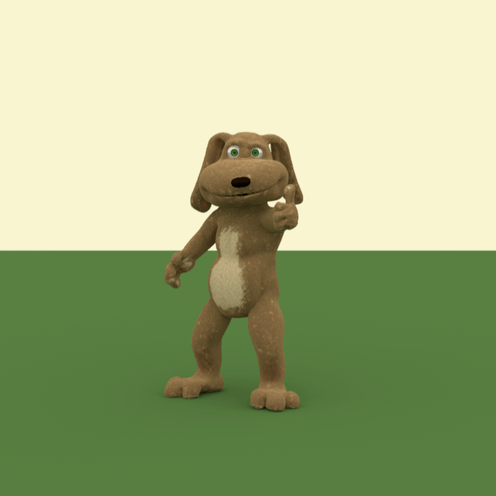 Picture of a 3D animated dog